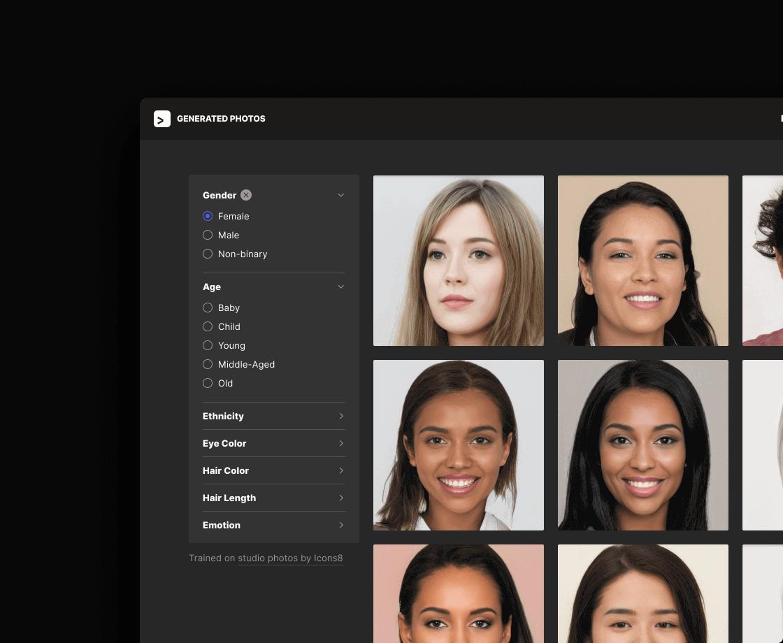 Generated Photos | Unique, worry-free model photos